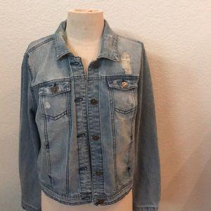 Cisono denim jacket jean jacket large jr